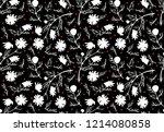 chamomile vector seamless... | Shutterstock .eps vector #1214080858
