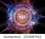 background of fractal elements  ... | Shutterstock . vector #1214087422