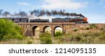 Steam Train Travelling Over An...