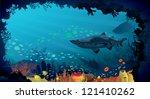 underwater life   coral reef... | Shutterstock .eps vector #121410262