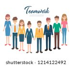 teamwork business people... | Shutterstock .eps vector #1214122492