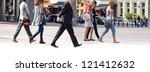 group employees going against... | Shutterstock . vector #121412632