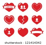 Love Hearts Icons Set For...
