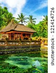 tirta empul temple. bali ...   Shutterstock . vector #121414726