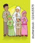 indonesian moslem eid mubarak... | Shutterstock .eps vector #121415575