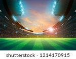 lights at night and stadium 3d... | Shutterstock . vector #1214170915