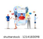 social media vector... | Shutterstock .eps vector #1214183098