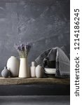 home decor   neutral colored... | Shutterstock . vector #1214186245