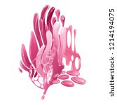 abstract design with pink... | Shutterstock . vector #1214194075