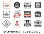 vintage retro vector logo for... | Shutterstock .eps vector #1214196472