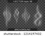 realistic fog.smoke vector... | Shutterstock .eps vector #1214197432