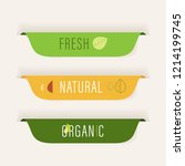 natural and organic label green ... | Shutterstock .eps vector #1214199745