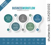 set of business infographic... | Shutterstock .eps vector #1214201032