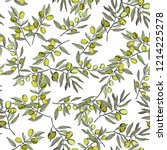 olive tree in a vector style... | Shutterstock .eps vector #1214225278