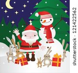 santa and his friends | Shutterstock .eps vector #121422562