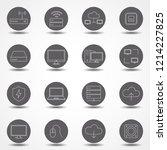 simple set of computer...   Shutterstock .eps vector #1214227825