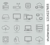 simple set of computer... | Shutterstock .eps vector #1214227855