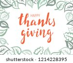thanksgiving lettering.... | Shutterstock .eps vector #1214228395