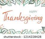 thanksgiving lettering.... | Shutterstock .eps vector #1214228428