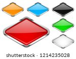 glass buttons with chrome frame.... | Shutterstock . vector #1214235028