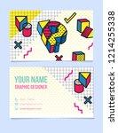 modern typographic  isometric... | Shutterstock .eps vector #1214255338