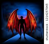 Dark Angel Silhouette Of A Man...