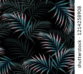 seamless tropical pattern ... | Shutterstock .eps vector #1214258908