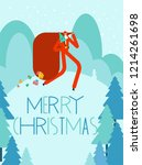 merry christmas greeting card.... | Shutterstock .eps vector #1214261698