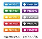 previous buttons. vector...   Shutterstock . vector #121427095