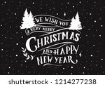 we wish you a very merry... | Shutterstock .eps vector #1214277238