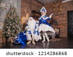 russian santa claus ... | Shutterstock . vector #1214286868