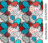 cartoon hearts love on neutral  ... | Shutterstock .eps vector #1214290585