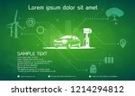 electric car and charging...   Shutterstock .eps vector #1214294812