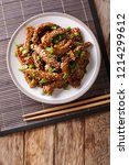 traditional asian beef teriyaki ... | Shutterstock . vector #1214299612