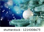 closeup christmas tree... | Shutterstock . vector #1214308675