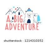 a big adventure slogan and... | Shutterstock .eps vector #1214310352