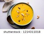 kaddu or pumpkin kheer or... | Shutterstock . vector #1214311018