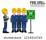a supervisor is checking the... | Shutterstock .eps vector #1214314765