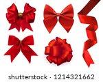 vector beautiful realistic red... | Shutterstock .eps vector #1214321662