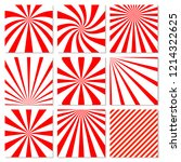 abstract starburst red... | Shutterstock . vector #1214322625
