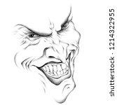 monster for halloween print.... | Shutterstock .eps vector #1214322955