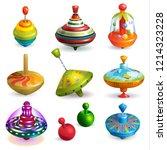 top toy vector kids whirligig... | Shutterstock .eps vector #1214323228
