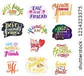 friend lettering vector... | Shutterstock .eps vector #1214323375
