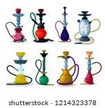 hookah vector tobacco hooka... | Shutterstock .eps vector #1214323378