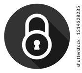 lock icon. private lock vector... | Shutterstock .eps vector #1214328235