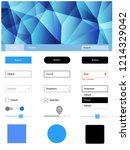 light blue vector ui kit in...