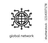 global network icon. trendy... | Shutterstock .eps vector #1214337178