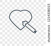 heart concept vector linear...
