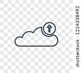 upload to cloud concept vector... | Shutterstock .eps vector #1214338492