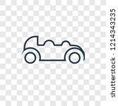 car concept vector linear icon...